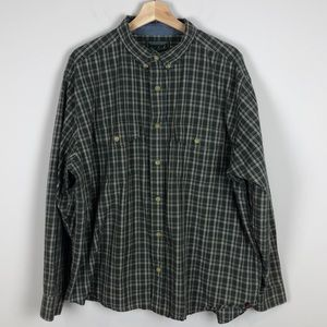 Woolrich Plaid Button Down Shirt Size Extra Large